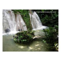Jamaica Wedding by the Waterfalls and lush Tropical Gardens, Ocho Rios... ❤ liked on Polyvore