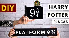 DIY HARRY POTTER Plataforma 9 ¾ 2 placas - Hogwarts Express - Decoração ...