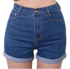 Women's Denim Shorts - AnVeiNao Womens Girls Fashion High Waist Denim Jean Shorts Summer Hot Pants -- See this great product.