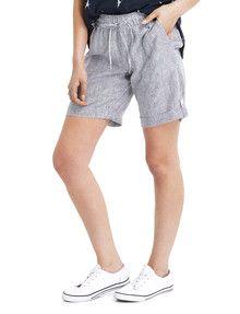 Zest Linen Stripe Short, Blue & White product photo