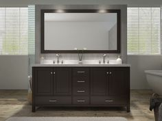 "Cambridge 73"" Double Sink Vanity Set in Espresso"
