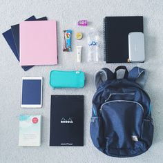 What's in my backpack? An anon asked me to do a post like this so here it is! In my Everest backpack I have:3 folders, each for a different subjectMy iPad Mini 2The Life-Changing Magic of Tidying Up (an amazing book that everyone should read!!)A Rhodia dot pad for my notesA Lihit Lab pen caseA Clif bar for when I get hungry between classesBurt's Bees hand lotion and cuticle cream for my wintery handsHand sanitizerWaterMy sketchbook and drawing materials for my drawing class