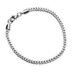 * Penny Deals * - HooAMI Mens Stainless Steel 3.2mm Wheat Chain Bracelet 8' ** For more information, visit image link.