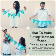 How to Make a Stop Motion Video - Baby Announcement Idea - Sunday FUNday link up!