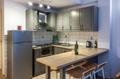"""The kitchen in """"minthi"""" suite"""