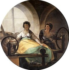 Francisco de GOYA Allegory of Industry c. 1805, Tempera on canvas, 227 cm diameter, location: Museo del Prado, Madrid