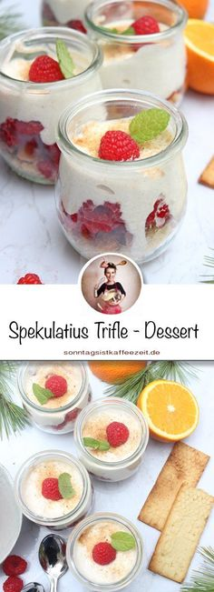 Spekulatius Trifle – Dessert im Glas - Mariana Zaragoza Tiramisu Dessert, Köstliche Desserts, Sweet Bakery, Cupcakes, Fabulous Foods, Easy Peasy, Delish, Good Food, Pudding