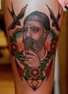 Tatuagem Old School Marinheiro por The Sailors Grave