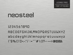 Neosteel - #modern Font Free - Free Fonts  Neosteel is a modern font which is design and developed by SAM and it has a warm touch and better look and feeling that you can use to develop your design projects.