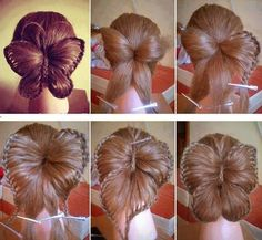Butterfly Hair Bun - ok this is gorgeous, but there's just no way I could pull this of alone on my hair :(