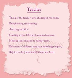 Teacher Poem...I absolutely LOVE this!!!! | That's what I think ...
