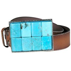 Turq Trophy Buckle Belt- Tan