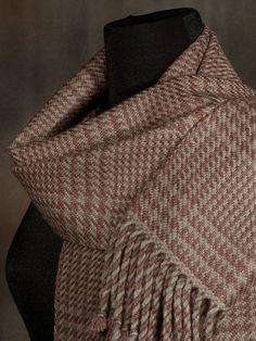 Glen plaid scarf / brown scarf / handwoven scarf / merino wool scarf My Signature, Signature Design, Wool Scarf, Plaid Scarf, Glen Plaid, Yarn Colors, Mens Suits, Merino Wool