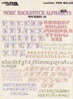 Gallery.ru / Фото #1 - 705 more backstitch alphabets - mornela