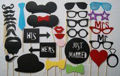 WEDDING Photo Booth Props - 31 Piece Set - WEDDINGS, Weddings, Weddings on Etsy, $33.67