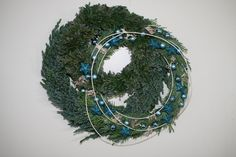 bleu wreath / blauer Kranz by Jürgen Herold