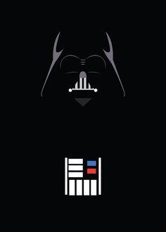 Star Wars - Darth Vader Minimalist Art Print