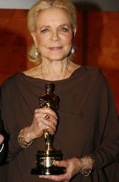 Lauren Bacall LIFE TIME AWARD age 91.