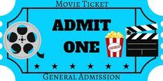 FREE Printables   Movie Night Ticket   Printable Movie Ticket