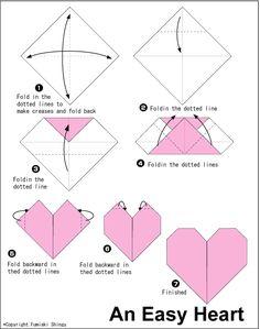 Corazón de Origami - fácil