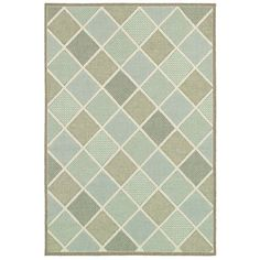3'9 x 5'5 Modern Squares Indoor Outdoor Area Rug - Quality House