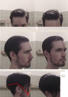 Medium length side part with volume.  This pic shows just how much hair you need before you can style it properly.