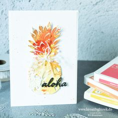 "Gute Laune Karte ""Aloha"" Curry, Poppies, Instagram, Catalog, Blood Orange, Good Mood, Cinnamon, Get Tan, Cards"