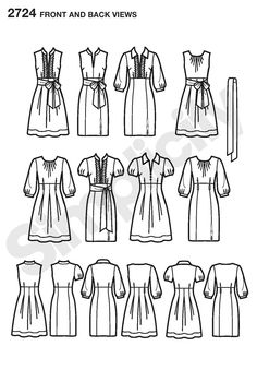 Simplicity 2724 - I just stumbled across this and realized that this one pattern offers the possibility of multiple, super cute, vintage-feel day dresses.