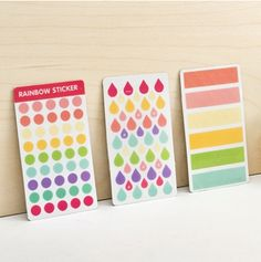 These three rainbow stickers are the cutest I've seen. Their colors are really pretty