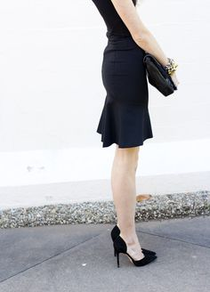 Love this LBD, the ruffle, the cut, EVERYTHING from Stella McCartney #LBD