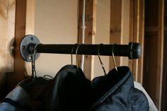 12 Industrial Clothes Hanger  Clothes Rack  by SalisburyWoodnSteel