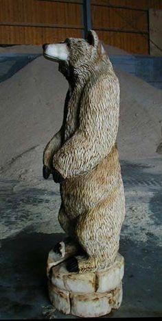 Mini Bär Baer Wood Carver Chainsaw Artist Carving BaerArt Skulpturen und Totems Holger Bär Billigheim Art Kunst Sculptures