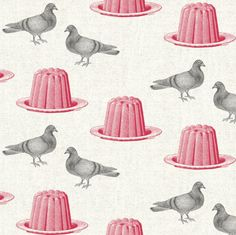 Pigeon and Jelly screen-print textile by Thornback & Peel