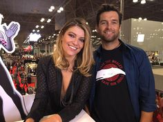 Banshee at Marvel NYCC - Ivana Milicevic & Anthony Starr