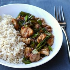 Spicy Basil Chicken - quick, healthy, and tons of flavor