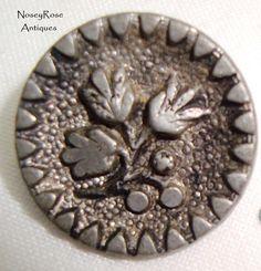 Vintage Depose Pewter Button