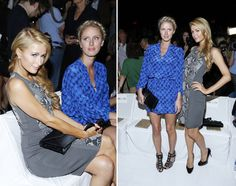 Paris Hilton e Nicky Hilton  no front row da semana de moda de Nova York(Foto: Getty Images)