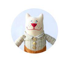 Soft toy cat - plush toy cat - interior toy cat  - stuffed animals cat -  Tilda cat