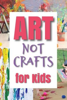 These are great art projects for kids to make! These are process art activities for kids that are meaningful and build creativity and imaginations. Crafts have their place as well - they are great for helping kids learn to follow instructions, build fine motor skills, etc. But this post is all about ART projects for kids! #howweelearn #artprojects #artprojectsforkids #artsandcraftsforkids #processart #kidsart #artforkids #preschoolartprojects #preschoolart #craftsforkids #art Preschool Art Projects, Art Activities For Kids, Projects For Kids, Art For Kids, Crafts For Kids, Hobbies To Try, Hobbies That Make Money, Diy Crafts And Hobbies, Arts And Crafts