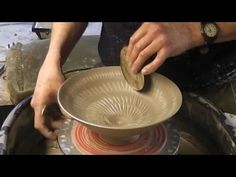 Throwing Making a Pottery Cheese Bell & Plate on the Wheel - YouTube