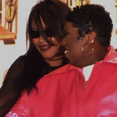 "352 Likes, 5 Comments - #TeamAaliyahSpain since '98 (@weloveaaliyahhaughton) on Instagram: ""Liyah and @missymisdemeanorelliott at Soul Train Awards '98 💜 #Aaliyah #Missy #AaliyahHaughton"""