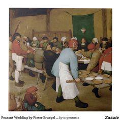 Peasant Wedding by Pieter Bruegel the Elder Ceramic Tile