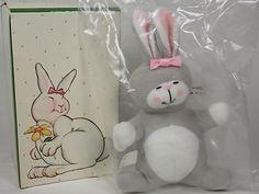 Vintage 1985 Avon Easter Bunny Rabbit Plush by DianesBargainShack, $8.00