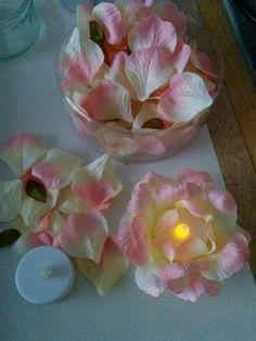 petal led tea light Light Cakes, Led Tea Lights, Wedding Cakes, Candles, Wedding Gown Cakes, Cake Wedding, Candy, Candle Sticks, Wedding Cake