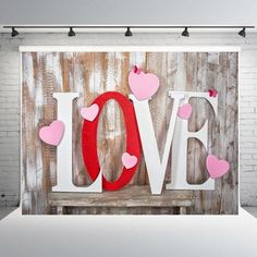 Valentine's Day Photo Backdrops Wood Wall Background for Photography Valentines Photo Booth, Valentine Backdrop, Valentine Picture, Valentines Day Photos, Valentines Day Background, Valentine Day Love, Valentines Diy, Valentine Nails, Flyer Photography
