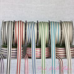 Woven Cotton Stripe - 5/8 Inch - Full Collection 2 yards each [0Notions-MayArts-WovenStripe-Set] - $29.95 : Pink Chalk Fabrics is your online source for modern quilting cottons and sewing patterns., Cloth, Pattern + Tool for Modern Sewists