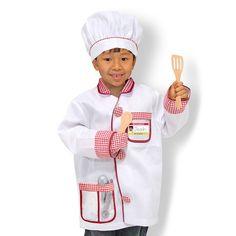 Melissa and Doug Chef Costume - Kids, Kids Unisex, Multicolor