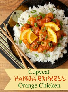 """Best """"Copy Cat"""" Recipe Ever – Panda Express Orange Chicken Recipe. My girls love panda and this was exactly like it! So delish! But a lot of cooking- not a simple meal."""