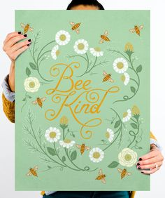 Bee Kind from HelpInk  A portion of every purchase gets donated to one of several charities; you get to choose which