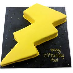 lightning bolt cake | Pin Lightning Bolt Cookie Cutter Rain Cake on Pinterest